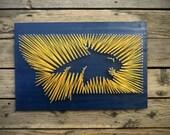 Montana State University String and Nail Art - MSU Bobcat Logo MT - Graduation Gift
