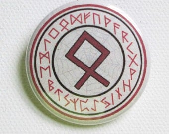 Rune Odal 1.5 inch pinback button or magnet or pendant