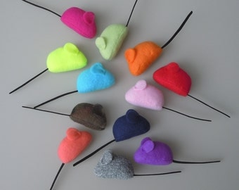 MADE TO ORDER Bulk Cat Toys One Dozen Fleece Catnip Mice
