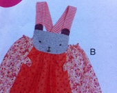 McCalls BABY Pattern No. 6824 Multiple Sizes Newborn Small Medium Large  XL Cozy Toes Top pants and Dress Leggings KNITS Only Cute Animal