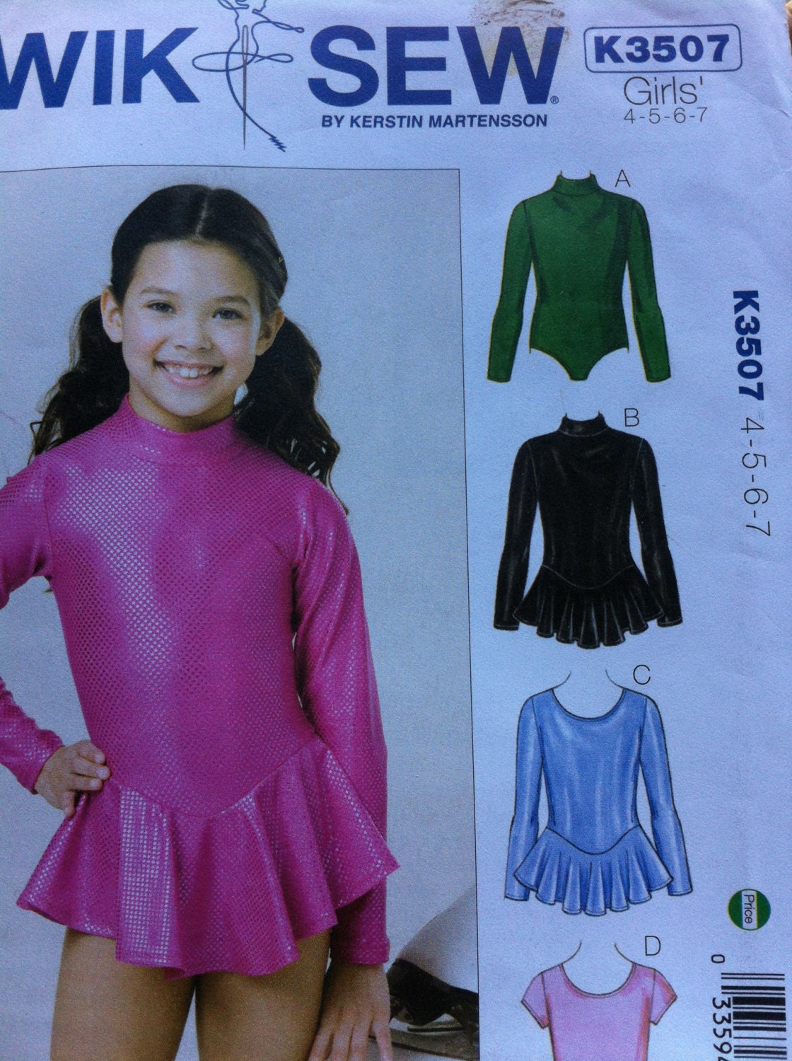 ballet hair styles kwik sew no 3507 leotards size 4 5 6 7 leotard knit 3507