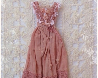 1:12 Edwardian Fashion Dress  dollhouse miniature by Soraya Merino