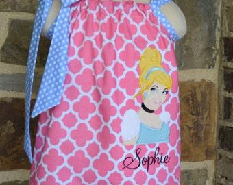 Monogrammed Cinderella  Pillowcase Dress