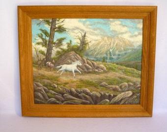 VINTAGE HORSE ART/ Original Painting