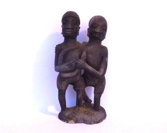 HANDCARVED AFRICAN SCULPTURE/ Fertility Gods/ Manhood Rites