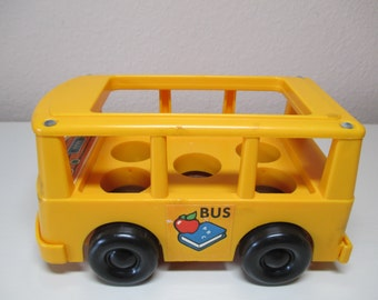 Vintage Red Mini Bus OR Yellow Bus