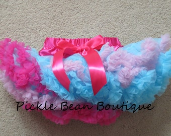 Hot Pink Blue Pettiskirt, 9-24 mo, Ready To Ship, 1st Birthday Girl Outfit, Girls First Birthday Outfits, Petti Skirt, 1st Birthday Tutu