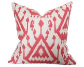 Vientiane Ikat Coral Pillow Cover (Single-Sided) - Made-to-Order
