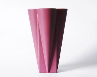 Vintage Tall Modernist Purple Vase - Jeroen Bechtold, Flora, Netherlands 1980s