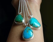 Sterling and Kingman Turquoise Necklace - Those Lazy Hazy Crazy Days of Summer