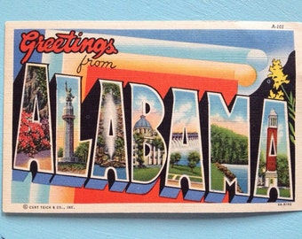 Alabama Large Pictorial Letters