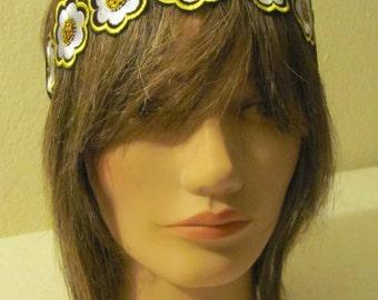 Boho Headband, Hippie Headband, Modern Headband, Cute Headband, Embroided Headband, Flowered Headband.