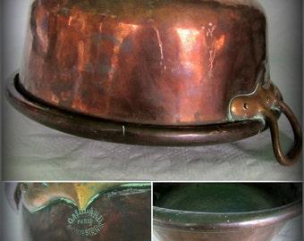 vintage french 8 copper short handle stock by. Black Bedroom Furniture Sets. Home Design Ideas