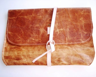 leather bag or sleeve for ipad, computer or misc by Functional Art