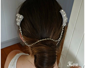 Weddings Bridal Accessories Hair Bridal Headpiece Head Jewelry Chain Forehead Chain Headpiece Wedding Head Piece Headband - Kea