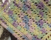 Miniature Crocheted Dollhouse Blanket Pastels