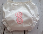 Monogrammed Baby Girl Bloomers - Diaper Cover for infant and toddlers - Shower Gift