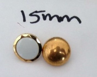 Lot of 12 Buttons in Two colors 15 mm