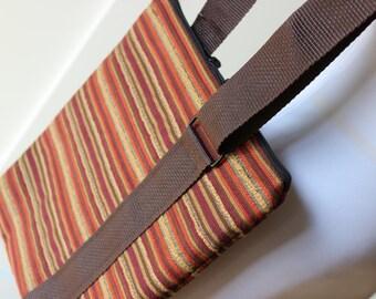 Warm Stripe Cross Body Hipster Bag