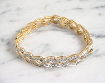 Vintage 3ctw Diamond Tennis Bracelet 14K Yellow Gold