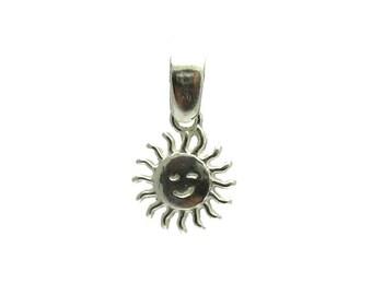 PE000985 Sterling Silver Pendant Solid 925 Sun