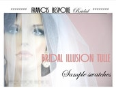 Tulle swatches bridal illusion Tulle samples for wedding veils in white, ivory chanpagne to match your wedding dress