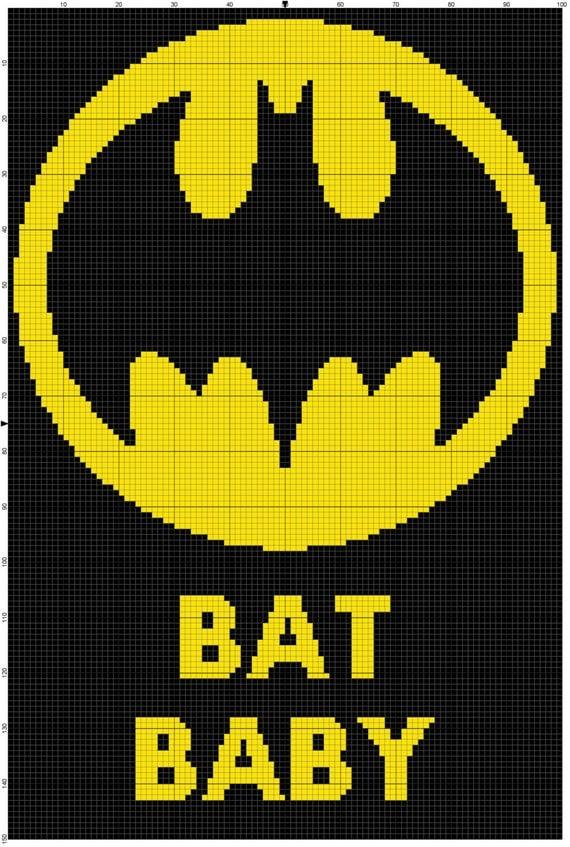 Instant Download Baby Batman Crochet Graph