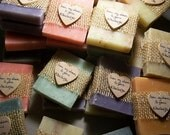 Rustic favors, 30 assorted bars, handmade soaps, bridal shower favors, 3 oz bars. Smell so good.