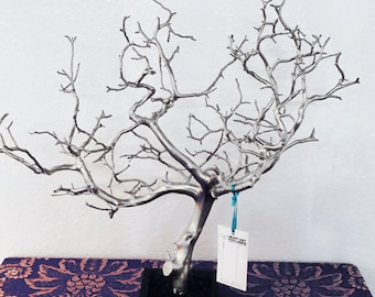 "19"" Silver Jewelry Tree Accessory holder / Jewelry Organizer"