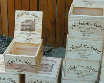 Nickel and Nickel / Wine Crate/ Napa Valley / Wedding Display / Wedding Decor/Wedding Card Holder/ Magazine Holder