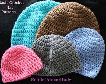 Basic Crochet Hat PATTERN