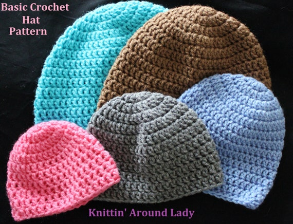 Basic Crochet Pattern For Hat : Basic Crochet Hat PATTERN