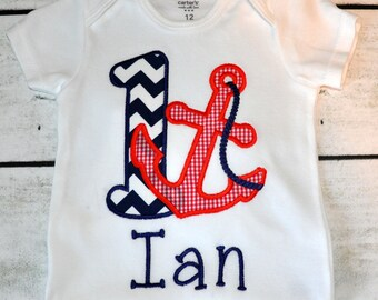 Personalized Anchor Birthday Tee Shirt