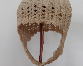 Vintage Crocheted Baby or Doll Bonnet