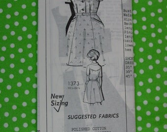 Vintage Pattern c.1960's Mail Order House Dress or Afternoon Dress Size 16 1/2 Uncut
