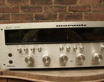 Vintage 1970's Marantz Model 2270 Stereophonic Receiver, 1972, home studio, home theatre, retro game room, Father's Day gift for dad