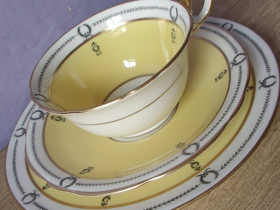 Antique Aynsley cup and saucer plate set