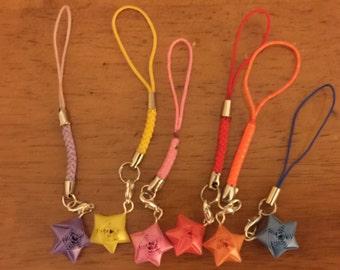 Origami Straw Star Phone Strap