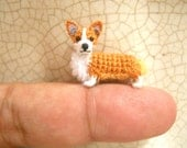 Pembroke Welsh Corgi - Amigurumi Crochet Tiny Dog Stuff Animal - Made to Order
