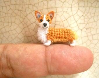 Pembroke Welsh Corgi - Amigurumi Crochet Tiny Dog Stuff Animal - Made to Order