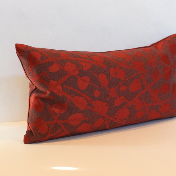 Lumbar Pillow Cover Rust Abstract Oblong by couchdwellers on Etsy