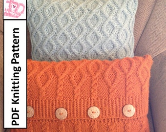 Cable Knit Sweater Pattern Free : Knit pattern pdf Cable knit pillow cover by LadyshipDesigns
