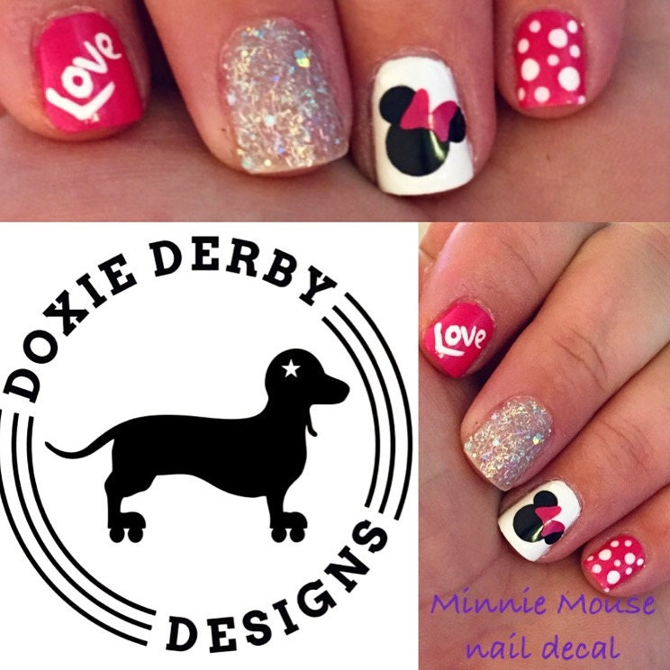 Minnie Mouse Nails: Minnie Mouse Nail Decals Bow Any Color By 3rdDegreeLaser