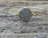 Druzy Bangle Bracelet / Gold Bracelet / Bridesmaid Gift / Bridesmaid Jewelry / Bridesmaid Bracelet / Druzy Bracelet / Drusy Jewelry / Gift