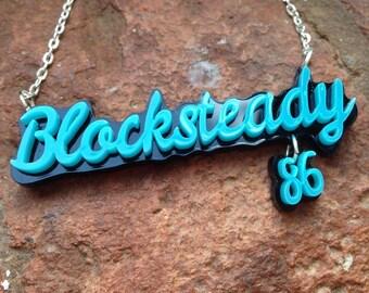 Roller Derby Name Necklace