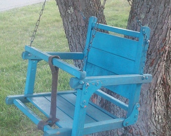 Vintage Childs Wood Hanging Swing Rustic Garden Decor Vintage Childrens Furniture