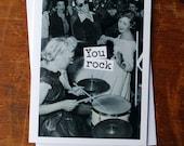 Blank Greeting Card - #63 - You Rock