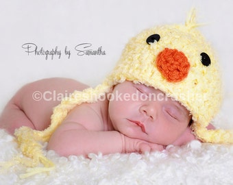 baby Chick hat - great easter spring photography prop or baby gift , made to order, 0-3 months size