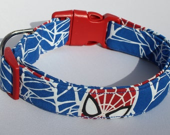 Glow Spiderman Dog Collar Comic Size XS, S, M or L