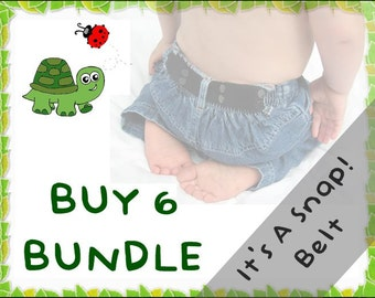 It's A Snap! Belt BUNDLE - Buy 6 & Save - elastic belts for toddlers to age 5+